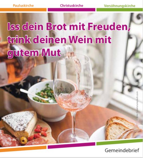 Gemeindebrief 2019-2 – Iss dein Brot mit Freuden