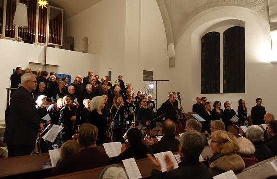 Adventskonzert der Kantorei coro con spirito in der Christuskirche am 1. Dezember 2019, Foto: Klaus P. Greschok