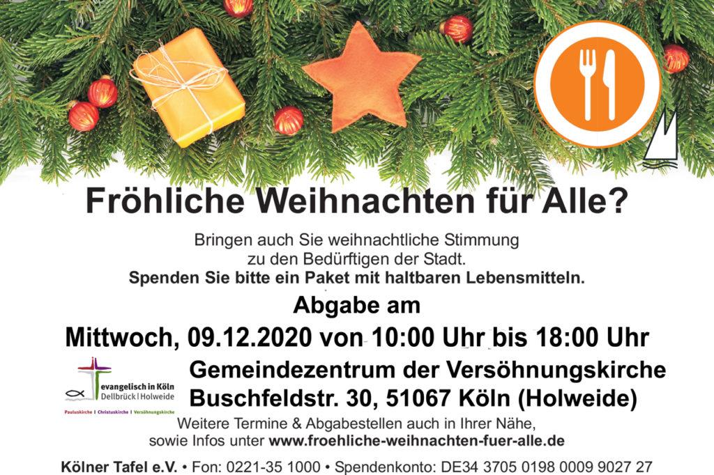 Weihnachtaktion Kölner Tafel 2020