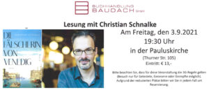 Read more about the article Lesung mit Christian Schnalke