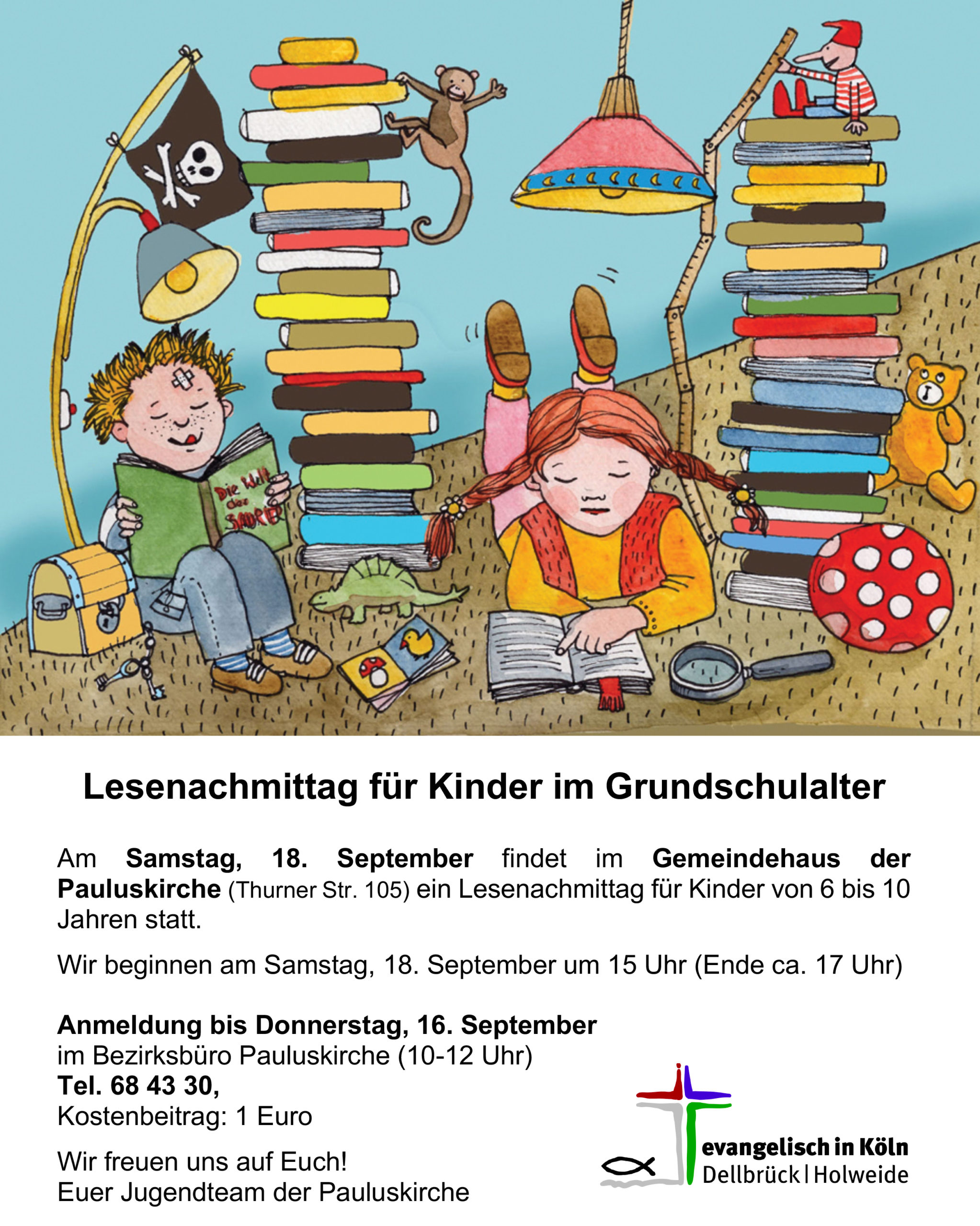 Read more about the article Lesenachmittag für Kinder im Grundschulalter