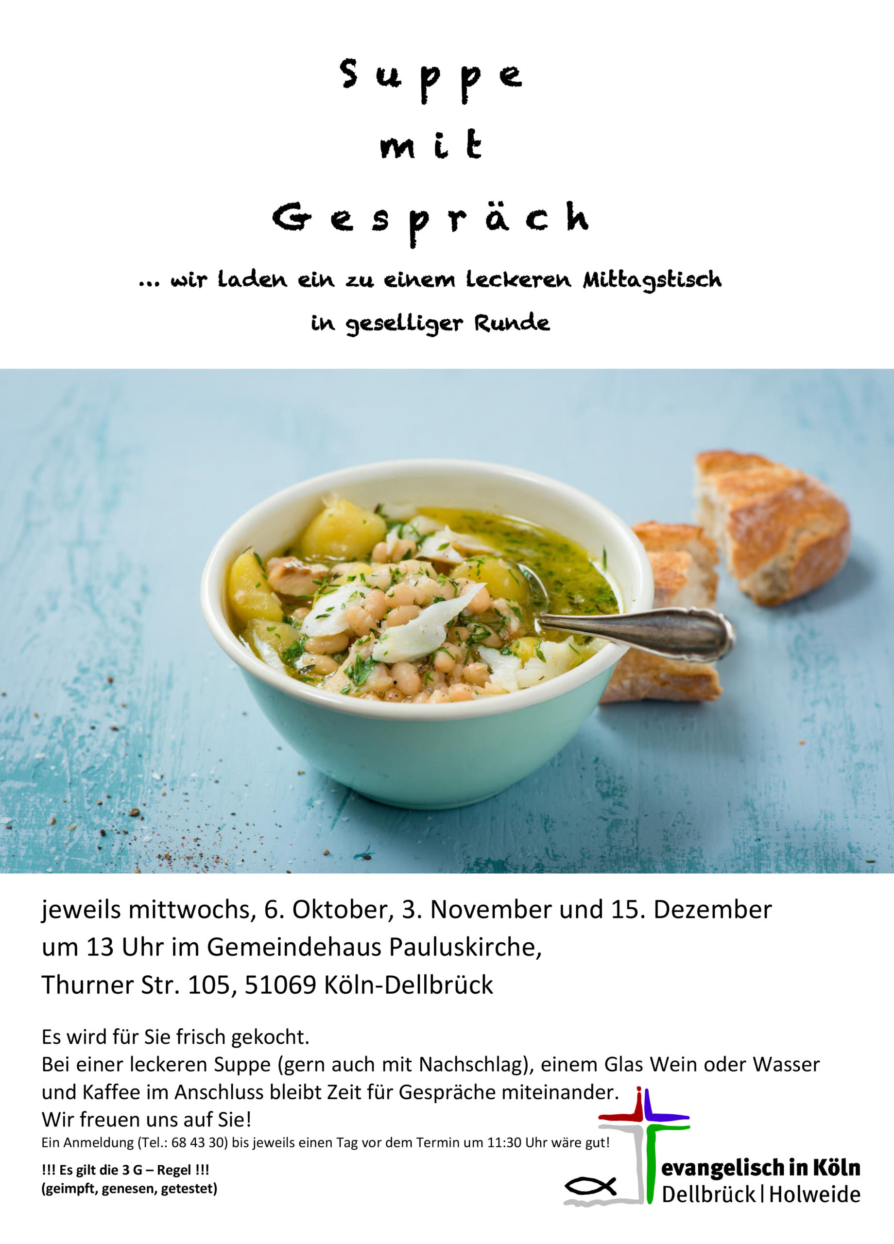 Read more about the article Suppe mit Gespräch am 03.11.2021